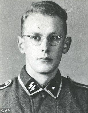 Groening, as a young man in an SS uniform
