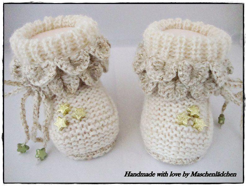 Babyschuhe - Krabbelschuhe von Maschenlädchen auf DaWanda.com ...