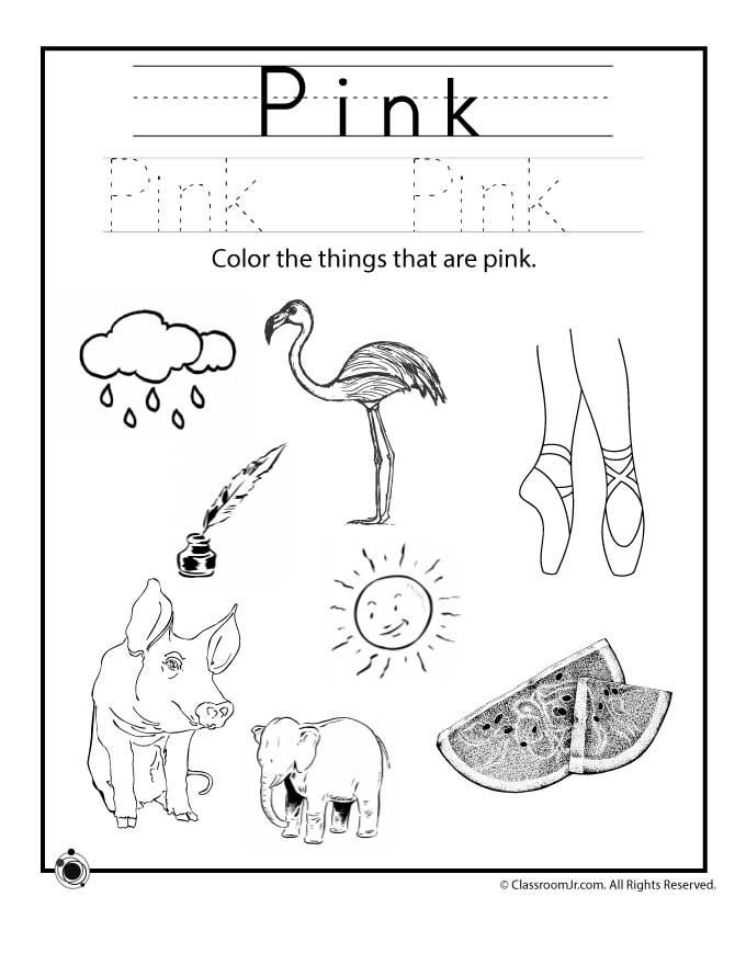 Learning Colors Worksheets for Preschoolers Color