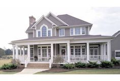 Plan HWEPL11732 has an impressive front porch! There's another one in back, too.