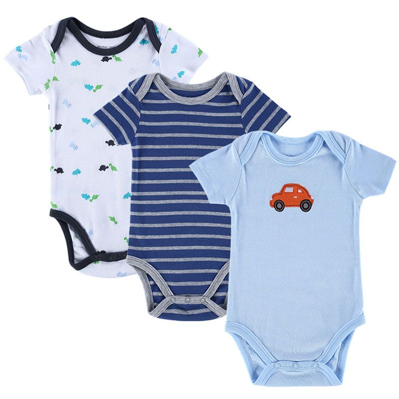 5ac89d2df New 3PCS Baby Boy Rompers Baby Clothing Set Summer Cotton Baby Girl ...
