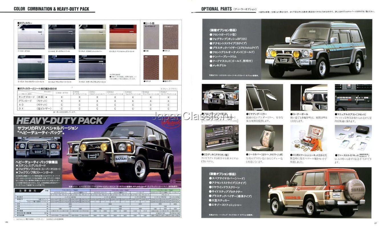 Nissan Safari Patrol Y60 Brochure Nissan Patrol Nissan Safari