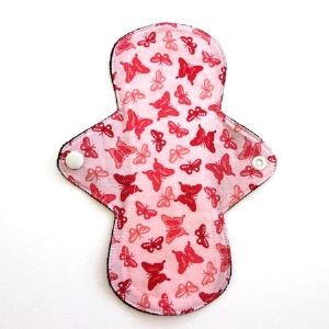 Reusable Cloth Pad Pink Butterfly