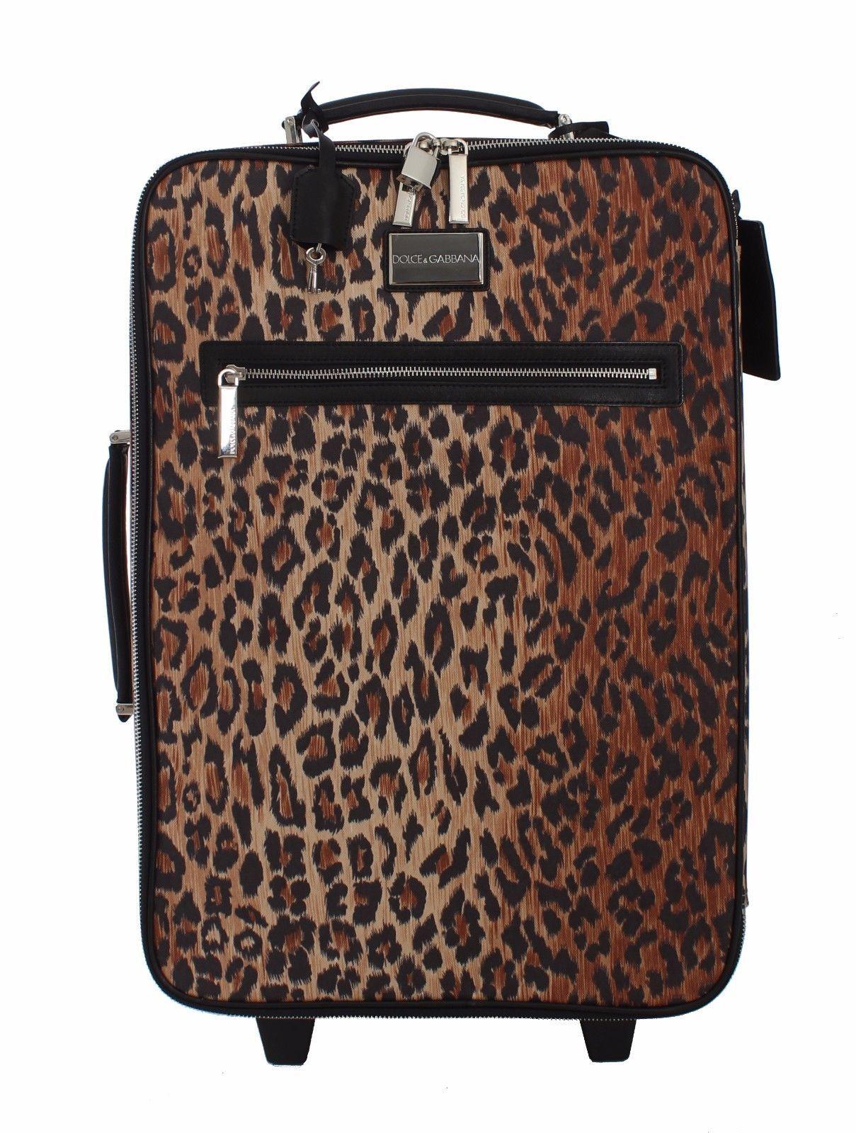 Dolce   Gabbana Luggage Bag Leopard Travel Cabin Suitcase Trolley ... 6e2072cfef230