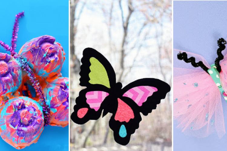 12 magnifiques bricolages sur le thème des papillons, à faire avec les enfants!