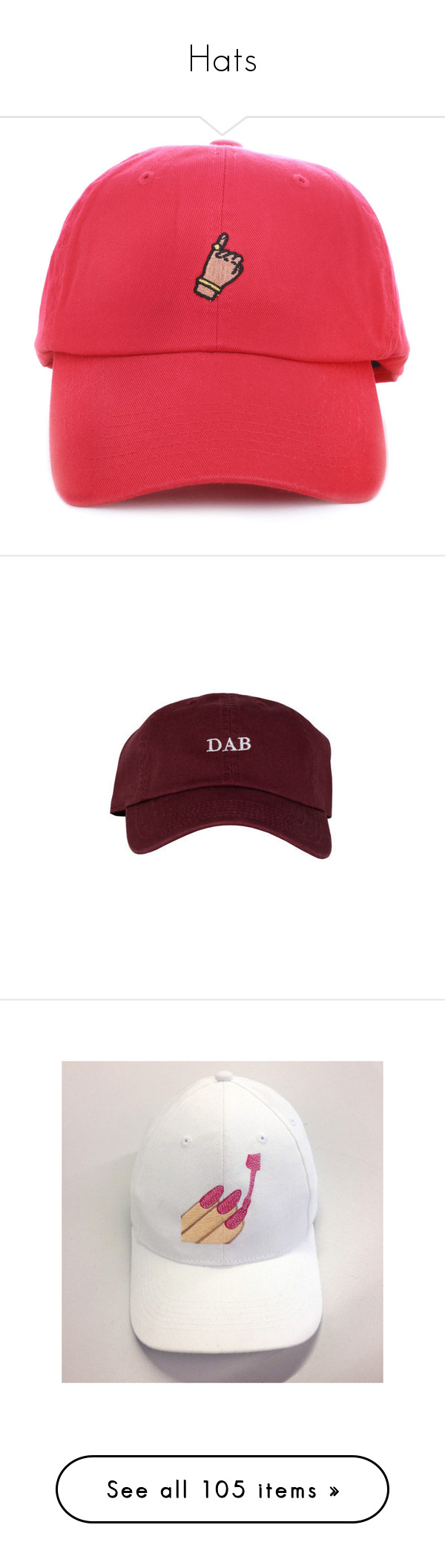 """""""Hats"""" by power-beauty ❤ liked on Polyvore featuring accessories, hats, buckle strap hats, ball cap, baseball cap hats, buckle hats, strap hats, men's fashion, men's accessories and men's hats"""