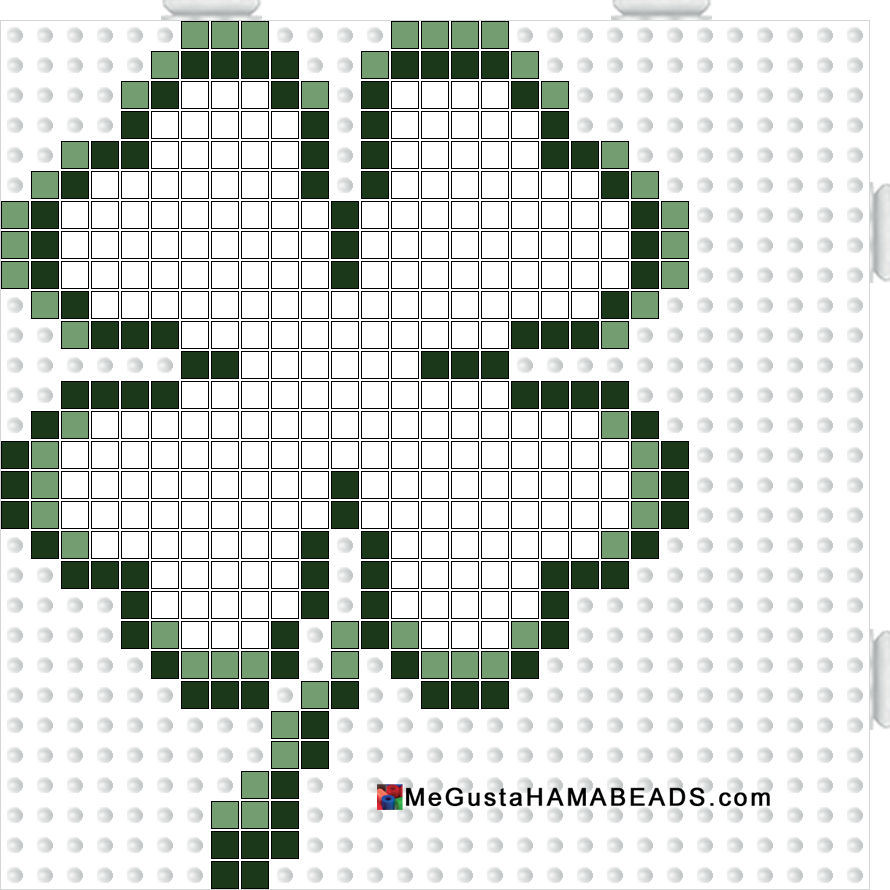megustahamabeads trebol cuatro hojas pequeño | manualidades ...