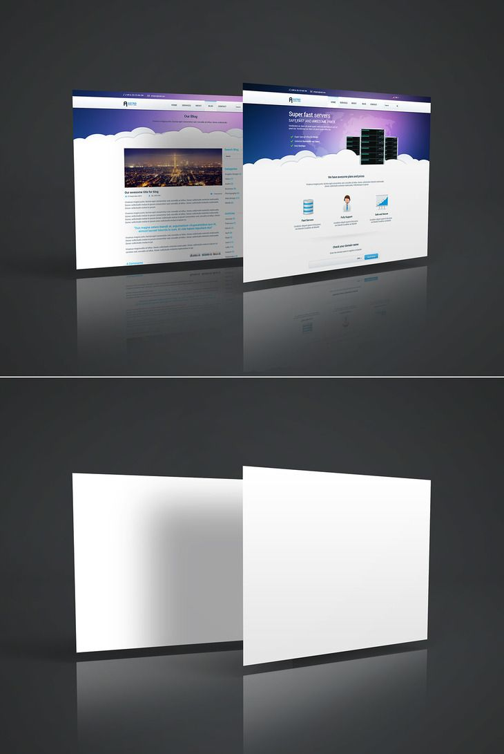 Free Web Page Mockup | Mockup, Template and Graphic design tools
