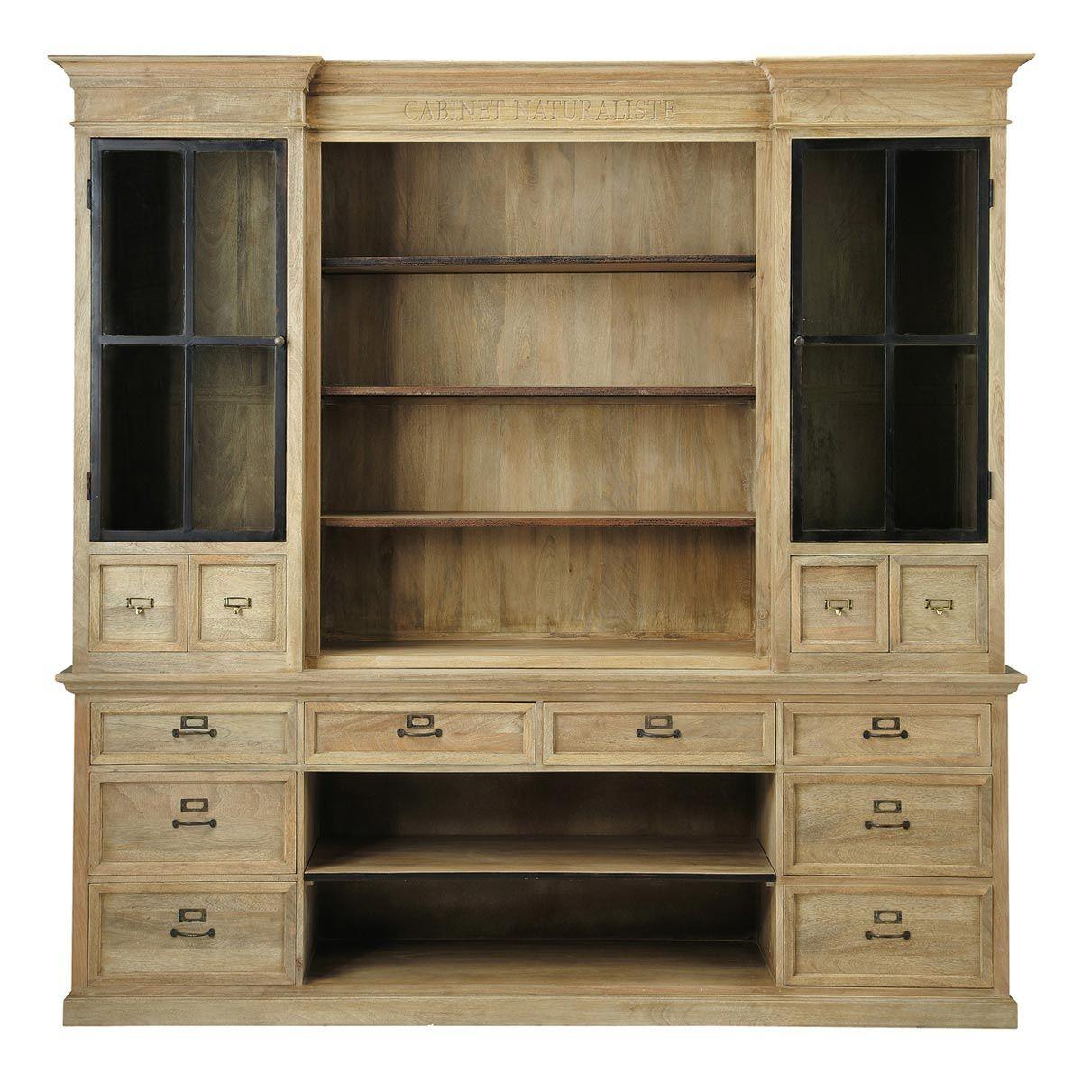 Bibliotheekkast in metaal en hout 235 Naturaliste