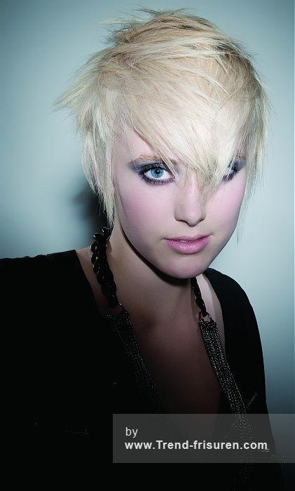 GUY KREMER Kurze Blonde Weiblich Gerade Farbige Punk Frauen