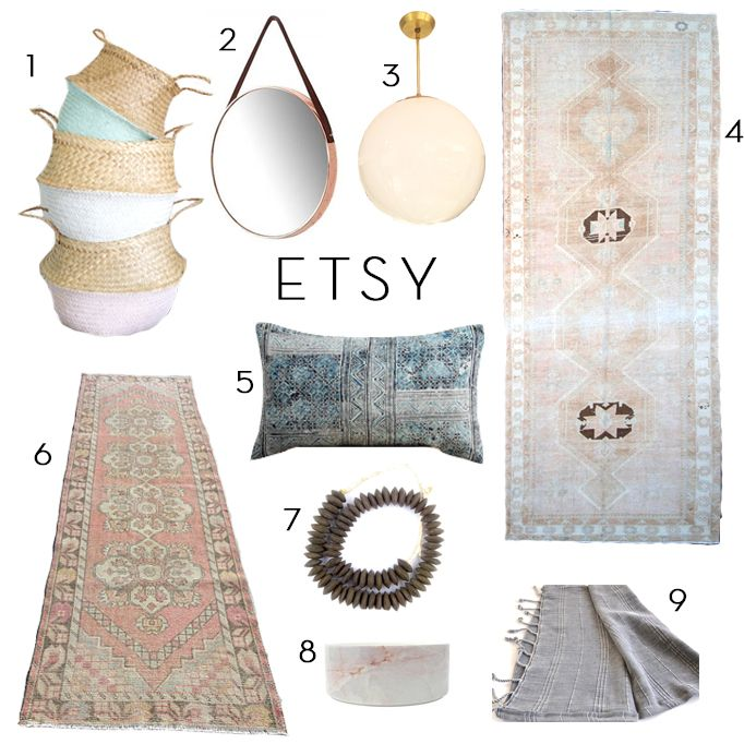 9 New Etsy FindsBECKI OWENS is part of Unique home Projects - Etsy is one of my favorite places to find unique home decor items  They have amazing vintage rugs and everything from lighting to hand towels to make a home look styled and complete  Today's Etsy finds are inspired by the soft and pretty palette of our Brio project  Did you get a chance to seeRead More