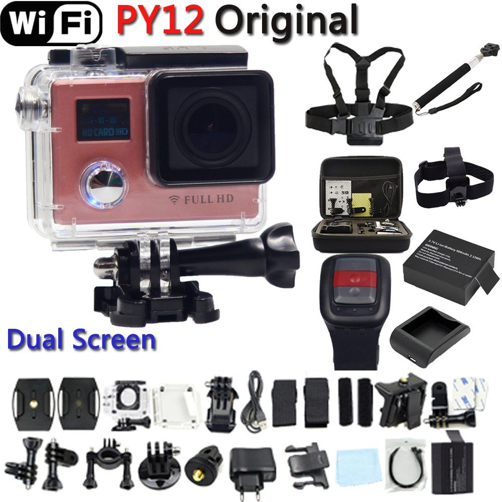 Py12 Wifi Action Camera Full Hd 1080p Remote Controller Extreme Mini Diving Cam Sport Go Waterproof