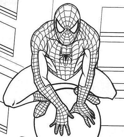 Marvel Spiderman Coloring Pages