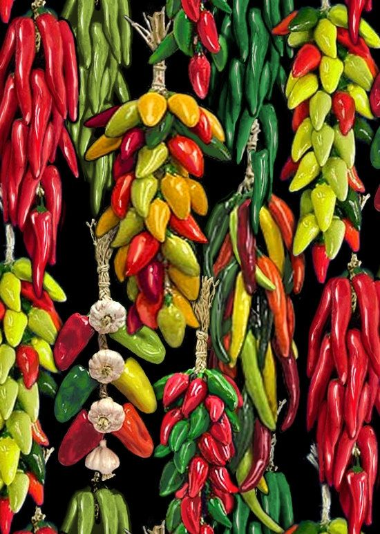 Red Hot Chili Peppers Collection By Elizabeth Studio Sold Per Half Yard Ideal For Quilting