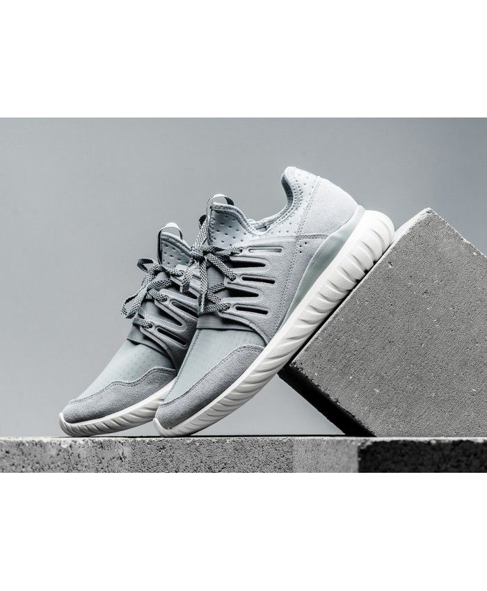 9f167b28c0960d Adidas Tubular Radial Trainers In Light Grey Vintage White