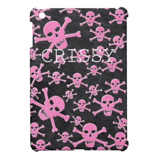 Pink&Black Skulls Ipad Mini Case