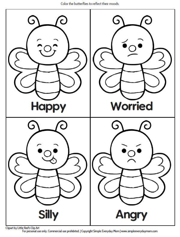 Printable Preschool Bug Activities For Learning Fun Emociones Preescolares Actividades Para Preescolar Hojas De Ejercicios Para Ninos