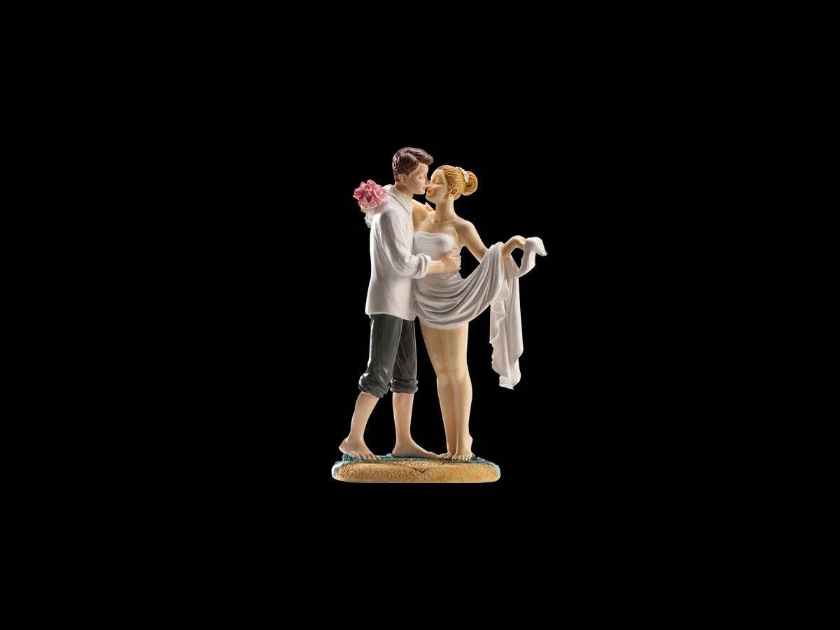 Figurine Mariés A la plage 16 cm