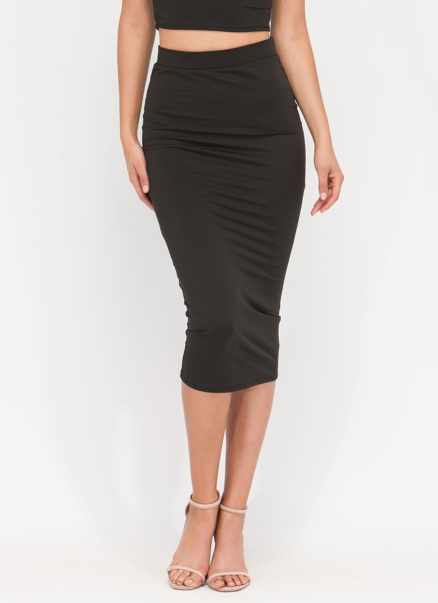 7ad879b92 In The Trend Zone Midi Skirt BLACK   affordable clothes I need ...