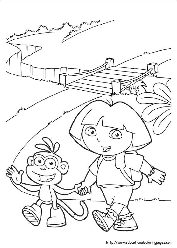 free dora coloring pages - Dora The Explorer Pictures To Print Free