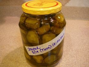 Crunchy Sweet Pickles from store bought dill pickles: I ...