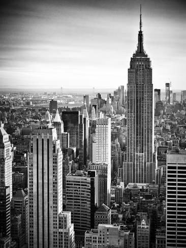 lifestyle instant skyline empire state building manhattan black