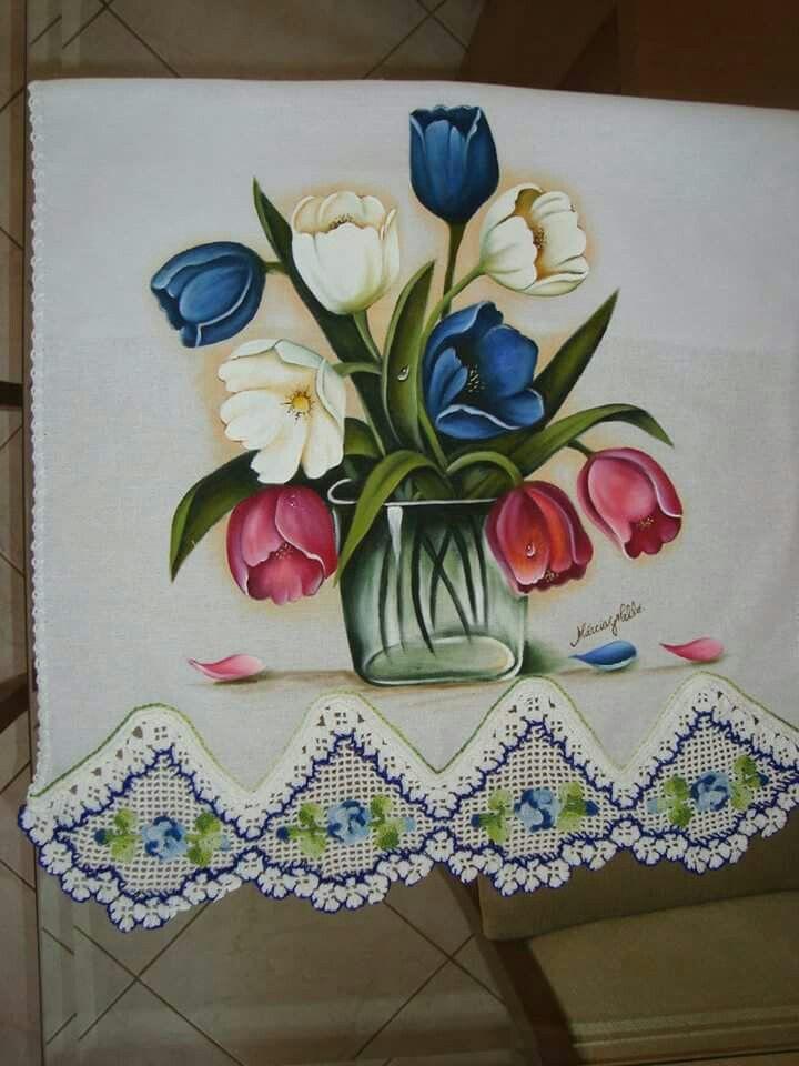 Pin de thelminha mara en flores pinterest pinturas - Dibujos para pintar sobre tela ...