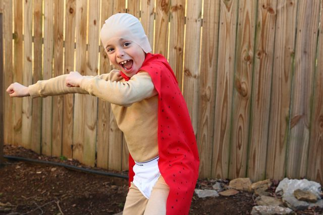 Book Character Costume: Captain Underpants Costume #captainunderpantscostume Captain Underpants book character costume #captainunderpantscostume
