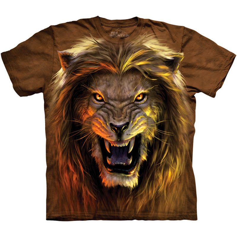 bb46cbbc30e5 Beast T-Shirt The Mountain Angry Lion 3D Big Face Mad Growling Roar Mens  Tee NEW #lionshirt #beast #angrylion