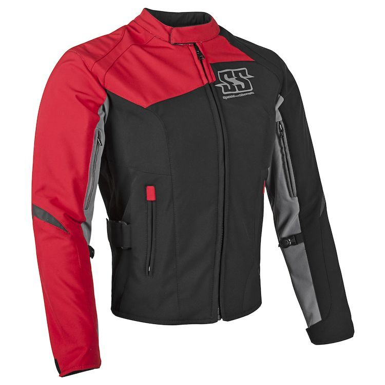 b79e1412e7ac The Speed and Strength Backlash motorcycle jacket is made from an AR500  super stretch-fit frame and features removable Vault CE approved shoulder