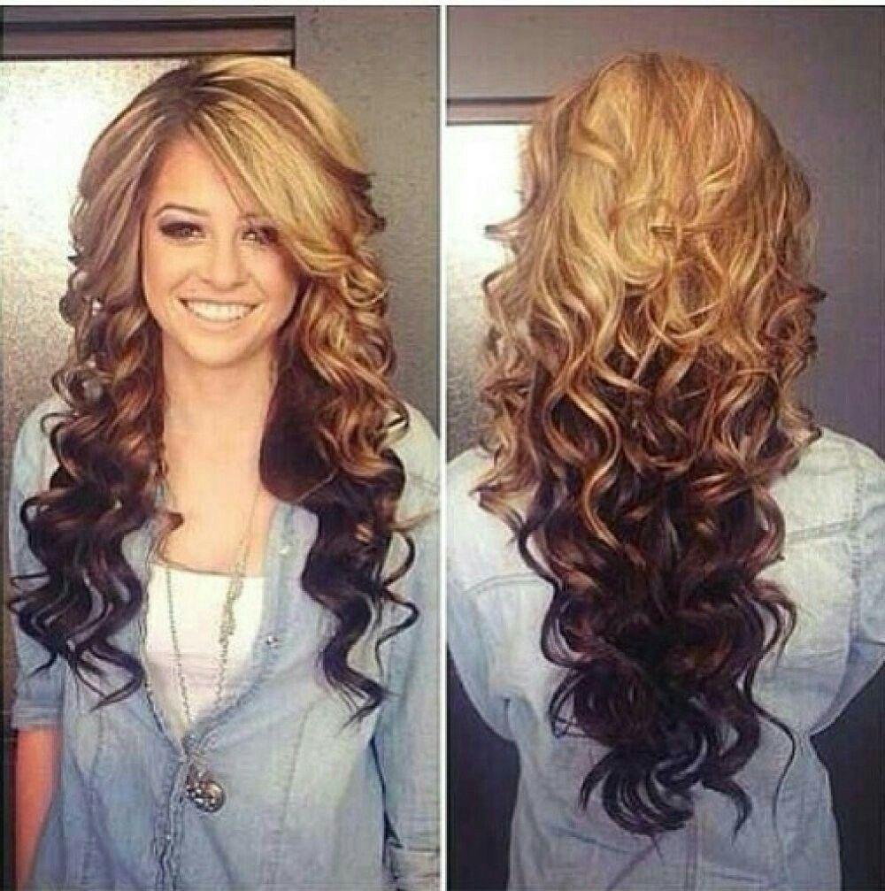 Reverse Ombre Hair, Long Hair