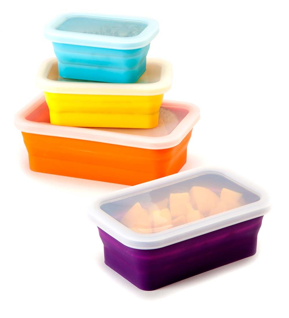 reuseit Nesting Silicone Food Storage Containers Set of 4