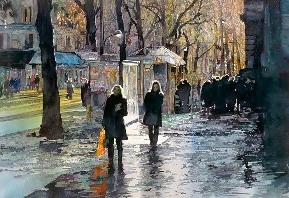 Brush Paper Water American Watercolor Masters John Salminen Watercolor City Watercolor Landscape Urban Landscape