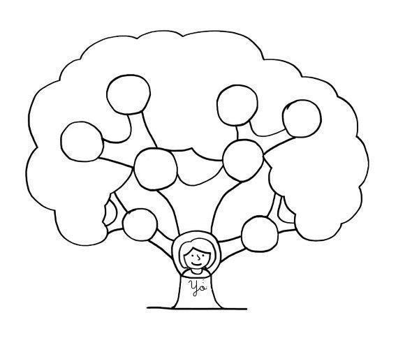 Arbol Dibujo Buscar Con Google Arbol Genealogico Para