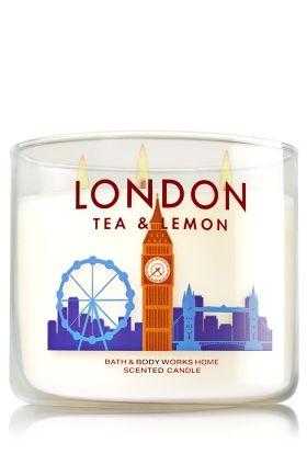 2 Bath /& Body Works LONDON TEA /& LEMON 3-Wick Scented Wax Candle 14.5 oz