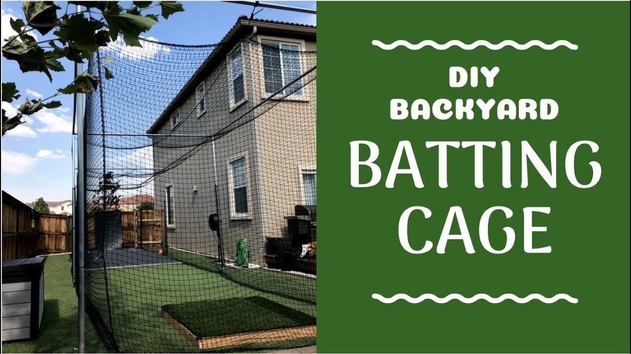 diy batting cage cheap
