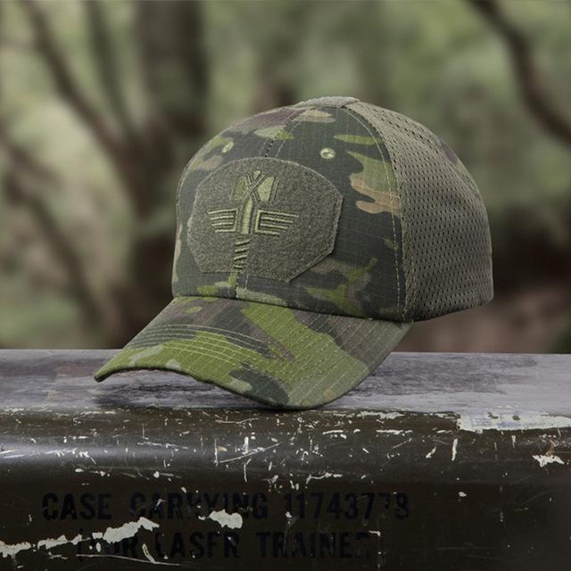 70e70f6cc71 Multicam Arid Tactical Baseball Cap MCA 100% Mesh 65 35 Ripstop Material  Baseball Hat Outdoor Camo Sport Hunting Caps