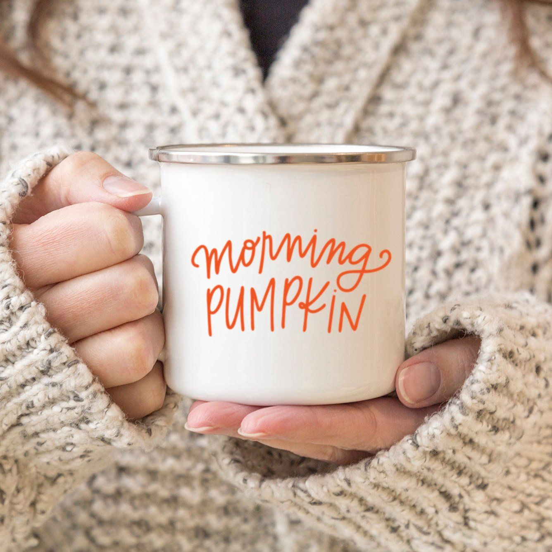 Morning Pumpkin Campfire Mug, PSL Mug, Fall Mug, Pumpkin