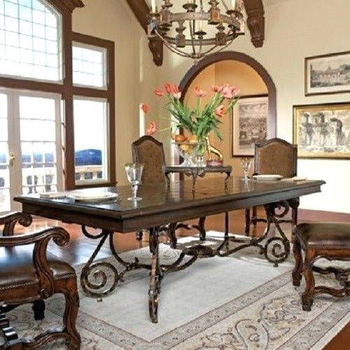Amazing Home Interior Design For Wrought Iron Dining Table ...