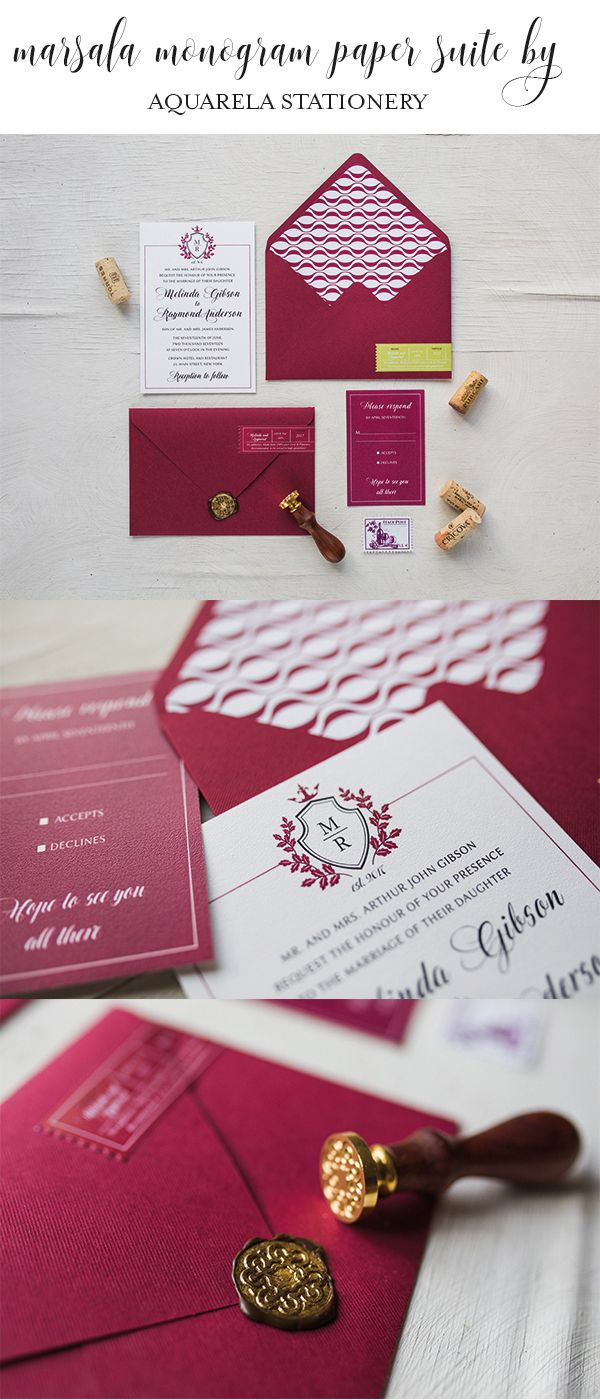 Wine Marsala Wedding Invitations Vineyard Italian Invites Formal Traditional
