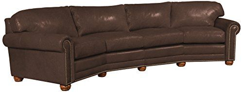 Omnia Leather Dominion 4 Seat Conversation Sofa in Leather ...
