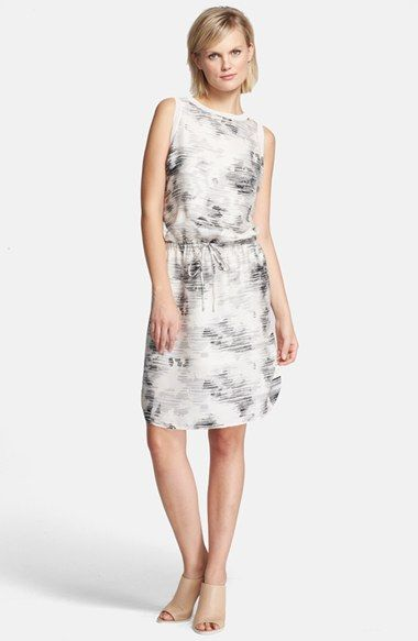 bf751f2e34 Free shipping and returns on Vince Print Drop Waist Silk Dress at  Nordstrom.com.