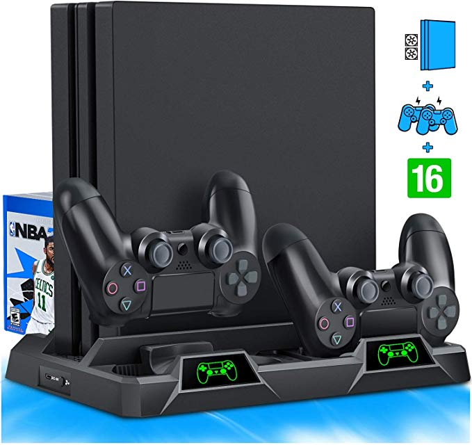Amazon Com Beboncool Ps4 Stand Cooling Fan For Ps4 Slim Ps4 Pro Playstation 4 Ps4 Pro Stand Vertical St Ps4 Stand Ps4 Controller Charger Ps4 Vertical Stand