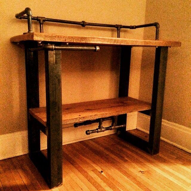 Reclaimed Wood Bar Cart - custom made for sale | Reclaimed Wood ...