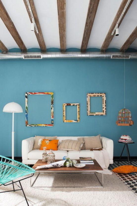 diseo de interiores para salas vintage
