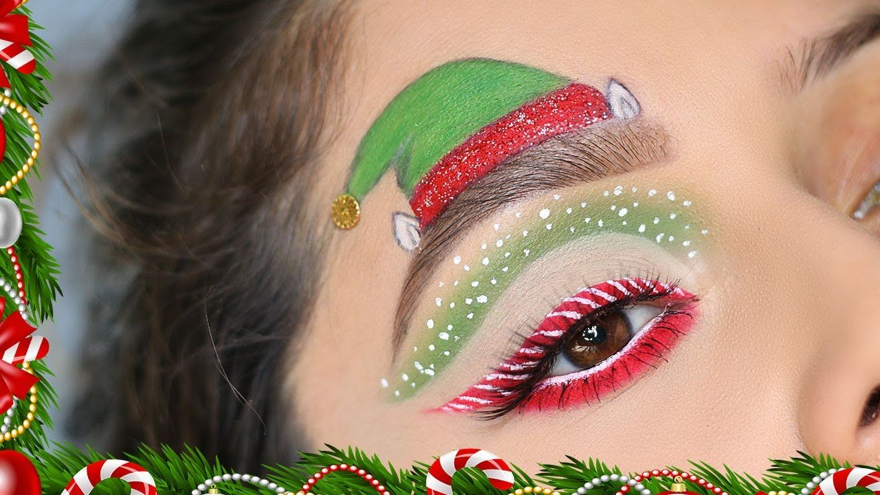 DIY Christmas Elf/Santa Hat Christmas Makeup Tutorial