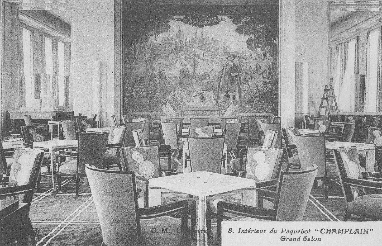 The First Class Grand Salon (Lounge) of the Champlain, cabin class ...