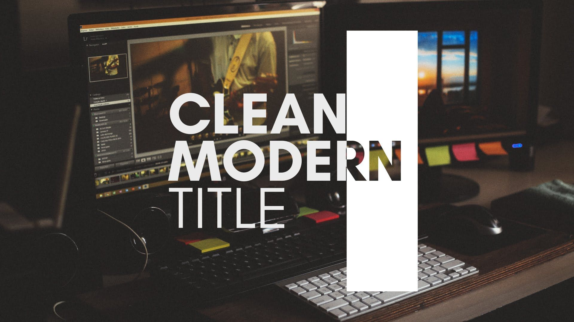 after effects tutorial clean modern title youtube adobe after