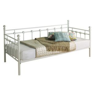 Buy Argos Home Abigail Single Metal Day Bed Frame White Day Beds Day Bed Frame Single Metal Bed Bed