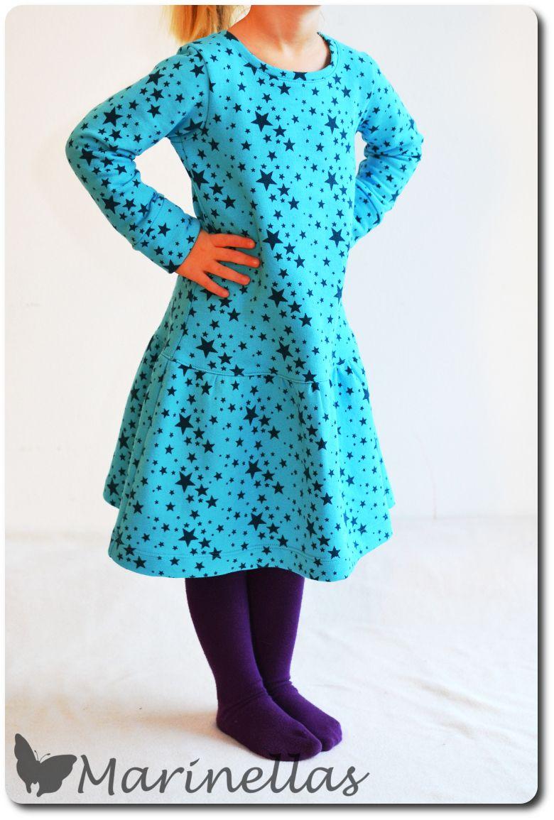 Sternenkleid   Winterkleid, Schnittmuster und Nähen